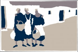 Chandy Haggett, 3 Women - 2012 - Silk Screen Print - 35 x 52 cm
