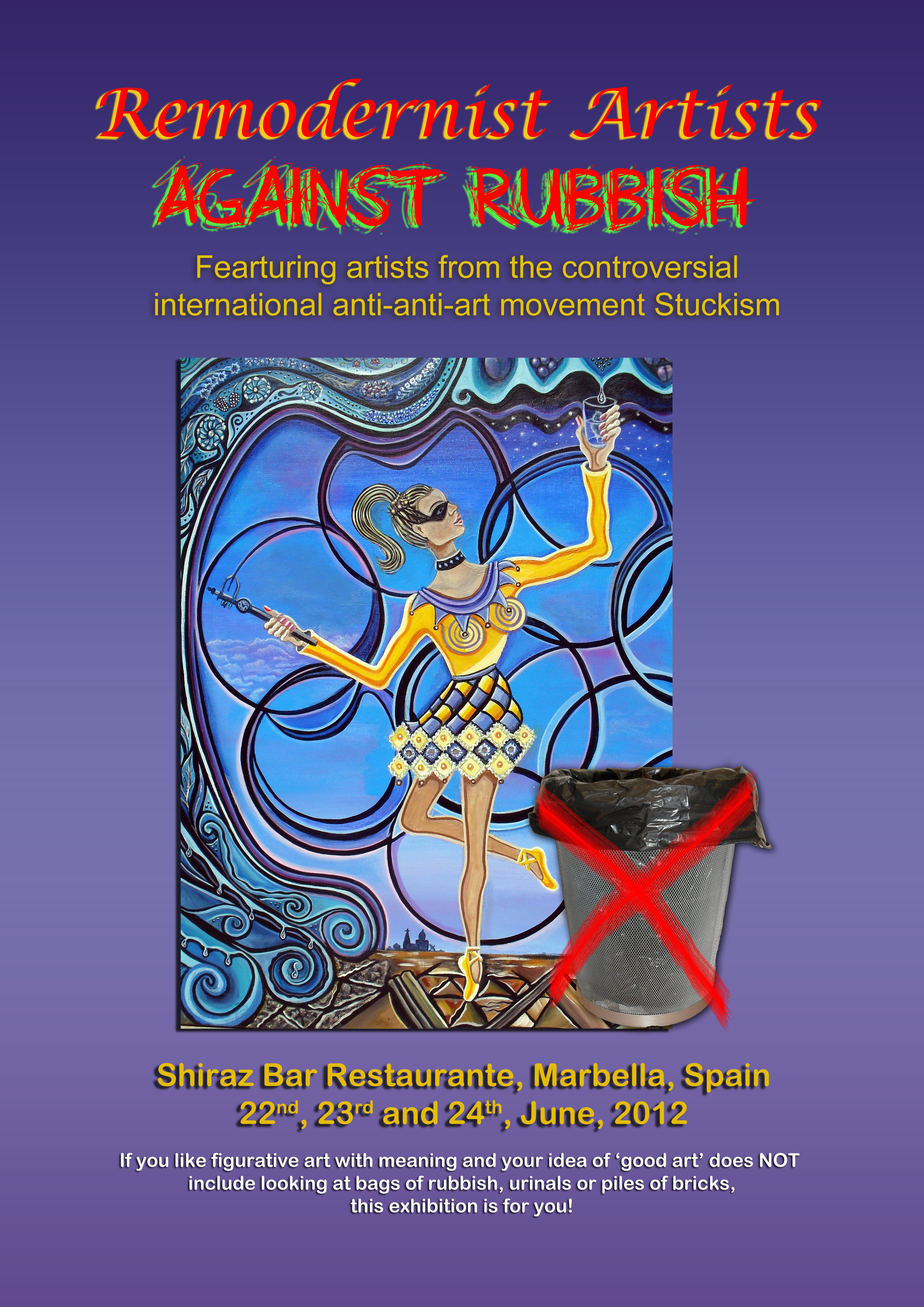 The 'Remodernist Artists Against Rubbish Exhibition', in Marbella, has now finished.