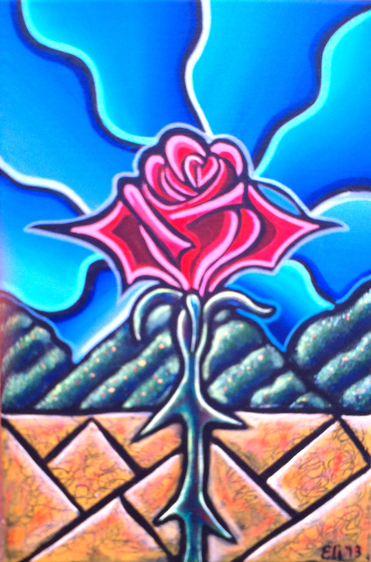 Artista Eli – Rose in the Desert – 2013