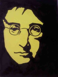 Anna Quay - John Lennon - 30cm x 40 cm Acrylic on Canvas