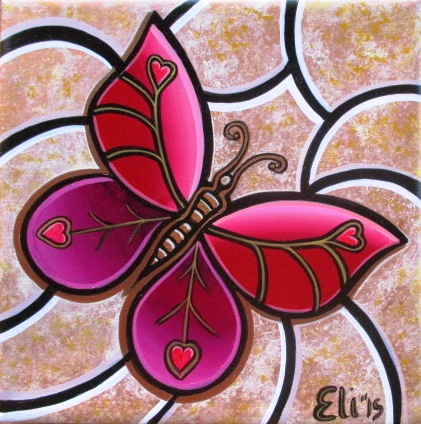 Artista Eli – One Love Butterfly – 2015 – Stuckism