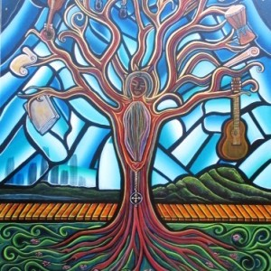 Artista Eli - One Love Tree - 2015 - Acrylic on Canvas - 92 x 73 com